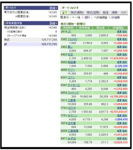 株式ポートフォリオ